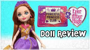 powerful princess club holly u0027hair doll review
