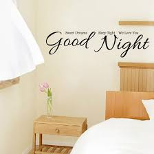 bedroom good night wall stickers home decor house sfdark good night wall stickers home decor house