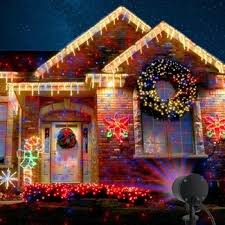 Outdoor Chrismas Lights Outdoor Lights Projector Waterproof And Blue Fixed