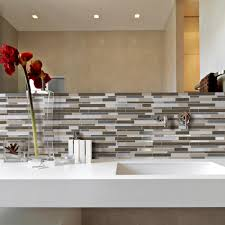 kitchen backsplash peel and stick mosaic wall tile installation