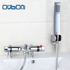 popular faucets shower buy cheap faucets shower lots from china us thermostatic faucet anti scald bathroom bath shower mixers with hand shower thermostatic faucet chrome