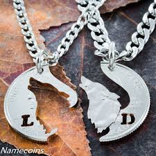 custom necklaces for couples buy a made customized howling wolf necklace with initials