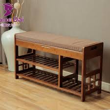 Bench Shoe Storage Bamboo Shoe Rack Storage Organizer Hallway Bench Bamboo