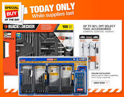 home depot black friday deals riobi tools home depot daily deal 50 off drill accessories 3 13 only