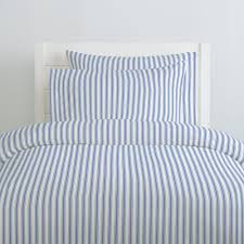 Ocean Duvet Cover Ocean Blue Ticking Stripe Duvet Cover Carousel Designs