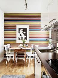 wallpaper in the kitchen what a brilliant idea