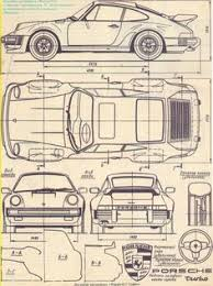 porsche 911 design car blueprint drawings search blueprints