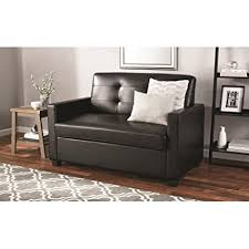sleeper sofa with memory foam mattress amazon com mainstays sleeper sofa with certipur us certified memory
