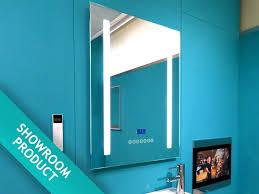 illuminated bluetooth fm dab bathroom radio mirror music in
