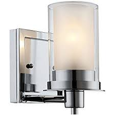 Chrome Bathroom Sconces Brio Wall Light Vanity Sconce Polished Chrome With Frosted Glass