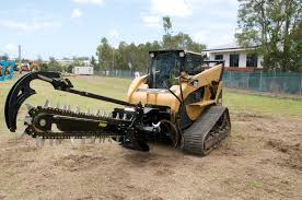 trencher attachments for skid steers track loaders are perfect for