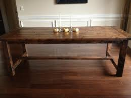 build dining room table diy rustic dining table decoration home