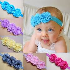baby bands new born baby headbands shabby flower kids headbands children hair