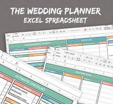 wedding day planner wedding planner spreadsheet excel wedding planner organise