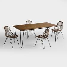 wood flynn hairpin dining collection world market