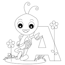 alphabet letter coloring free english printable pages