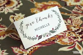Placecards Free Printable Thanksgiving Place Cards