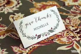 Thanksgiving Printable Free Free Printable Thanksgiving Place Cards