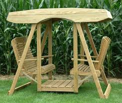 Swings And Gliders Patio Furniture by Furniture Amish Outdoor Furniture Of Pine Double Lawn Swing