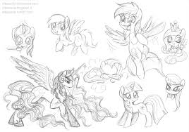 my little pony free sketches by stepandy on deviantart