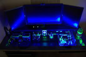 desk computer built into desk with gratifying cool computer