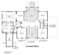 Center Hall Colonial Floor Plans Toll Brothers At Oak Creek The Hampton Home Design