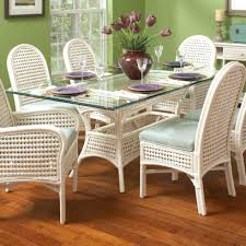 glass top dining table costco 7 piece kitchen table sets also dining room trend dining room braxton culler captiva tropical rectangular glass table with wicker base ahfadining table dining room trend dining room