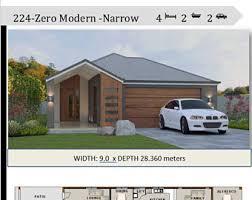 2 bedroom house design narrow lot house plan sale 89 m2