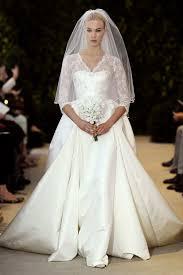 carolina herrera wedding dress lace and satin 3 4 sleeve wedding dress carolina herrera