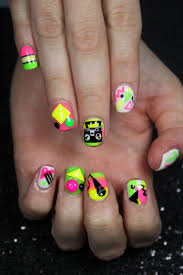94 best neon nail art images on pinterest neon nail art neon