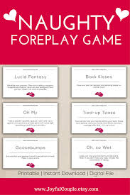 bedroom games christmas gift foreplay game for couples printable sex game