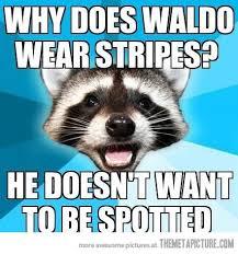 Waldo Meme - lame pun coon on waldo the meta picture