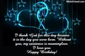 i thank god for this day birthday wishes for