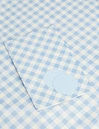 gingham wrapping paper blue gingham sheet wrapping paper m s