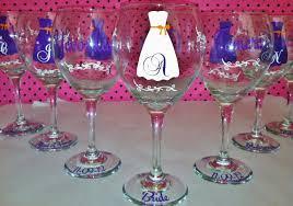 wine glasses for wedding personalized wedding dress wine glasses set of 6 on luulla