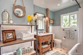 bathroom ideas rustic beach themed bathroom with built in bathtub