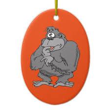 gorilla ornaments keepsake ornaments zazzle