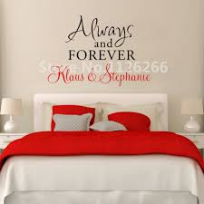 wall couple name promotion shop for promotional wall couple name personalized couple name wall decal always and forever love quotes vinyl stickers for living room bedroom