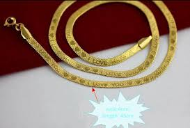 love you gold necklace images 2018 fast fine wedding jewelry new genuine 24k gold necklace chain jpg