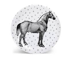 Horse Design Home Decor Melamine Plate Plate Animal Plate Horse Decor Decorative