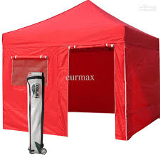 10 X 10 Awning 2017 New Eurmax Red Canopy 10 X 10 Commercial Ez Pop Up Tent 4