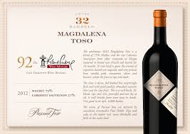 wine ls for sale pascual toso magdalena 2012 guarachi wine partners