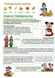 english exercises thanksgiving day
