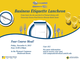 business etiquette luncheon fall 2013 campus involvement