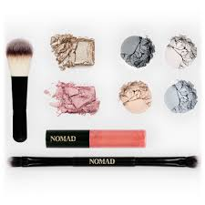 nomad x stockholm all in one makeup palette with face brush