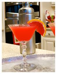 martini red blood orange martini 2 bees in a pod