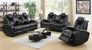 barnsdale reclining italian leather sofa and loveseat set in two