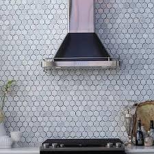 Marble Hex Tile Backsplash Design Ideas - Hexagon tile backsplash