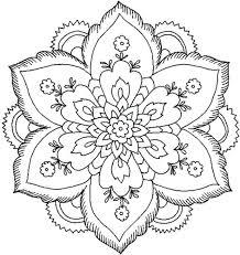 mandalas coloring pages adults page mandala deco flowers