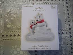 hallmark keepsake polar bears recordable ornament nib ebay
